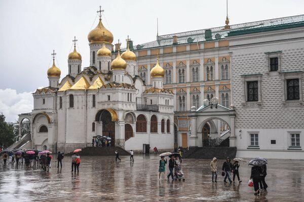 Благовещенский собор на Соборной площади Московского Кремля