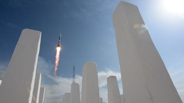 Пуск ракеты с космодрома Байконур. Архивное фото