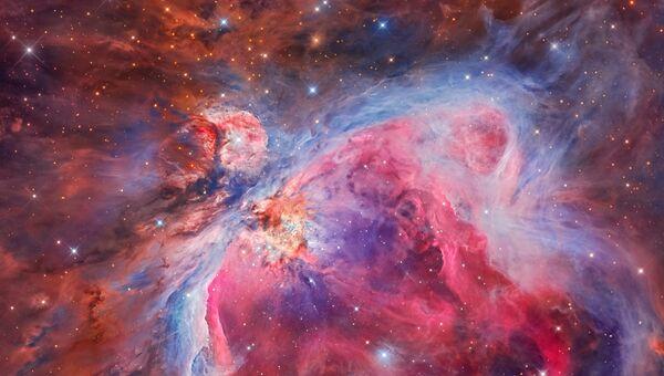 Работа фотографов Miguel Angel García Borrella and Lluis Romero Ventura Mosaic of the Great Orion & Running Man Nebula, вошедшая в шорт-лист Insight Astronomy Photographer of the Year 2018