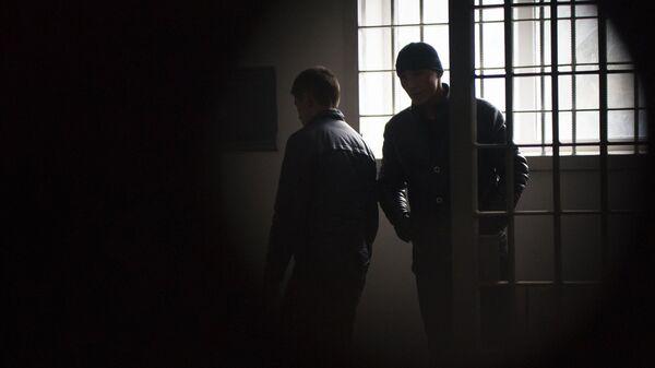 Заключенные в исправительной колонии. Архивное фото