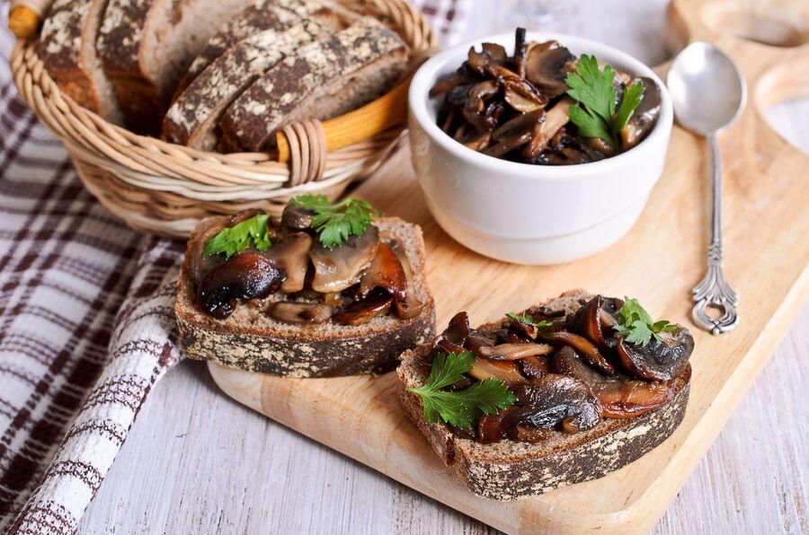 Сэндвичи с грибами
