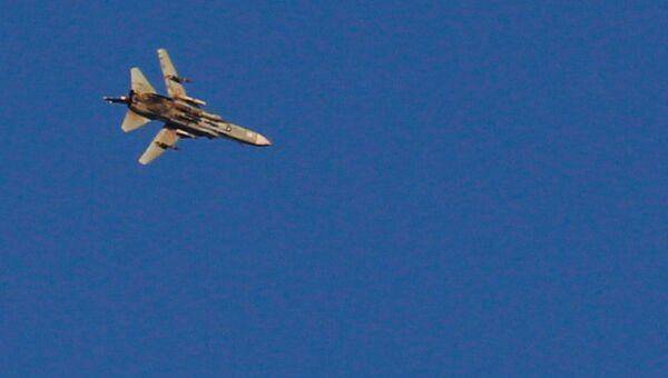 Военный самолет в районе сирийско-израильской границы. 23 июля 2018