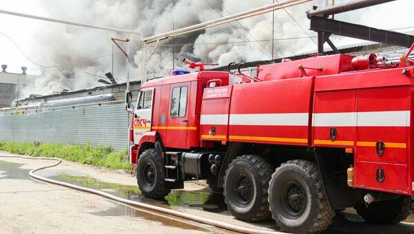 Пожар в промзоне Йошкар-Олы. 26 июля 2018