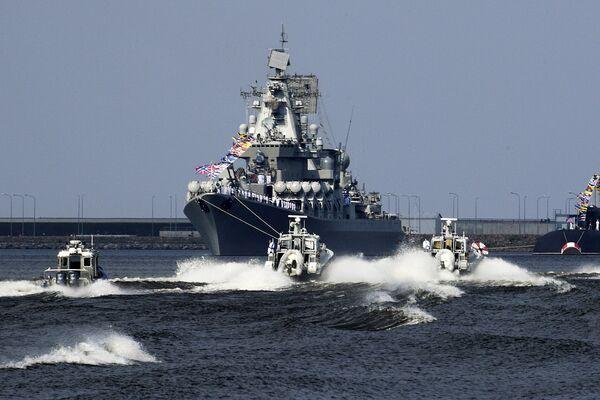 Репетиция парада, посвященного Дню ВМФ России
