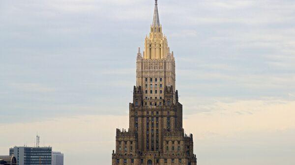 Здание министерства иностранных дел в Москве