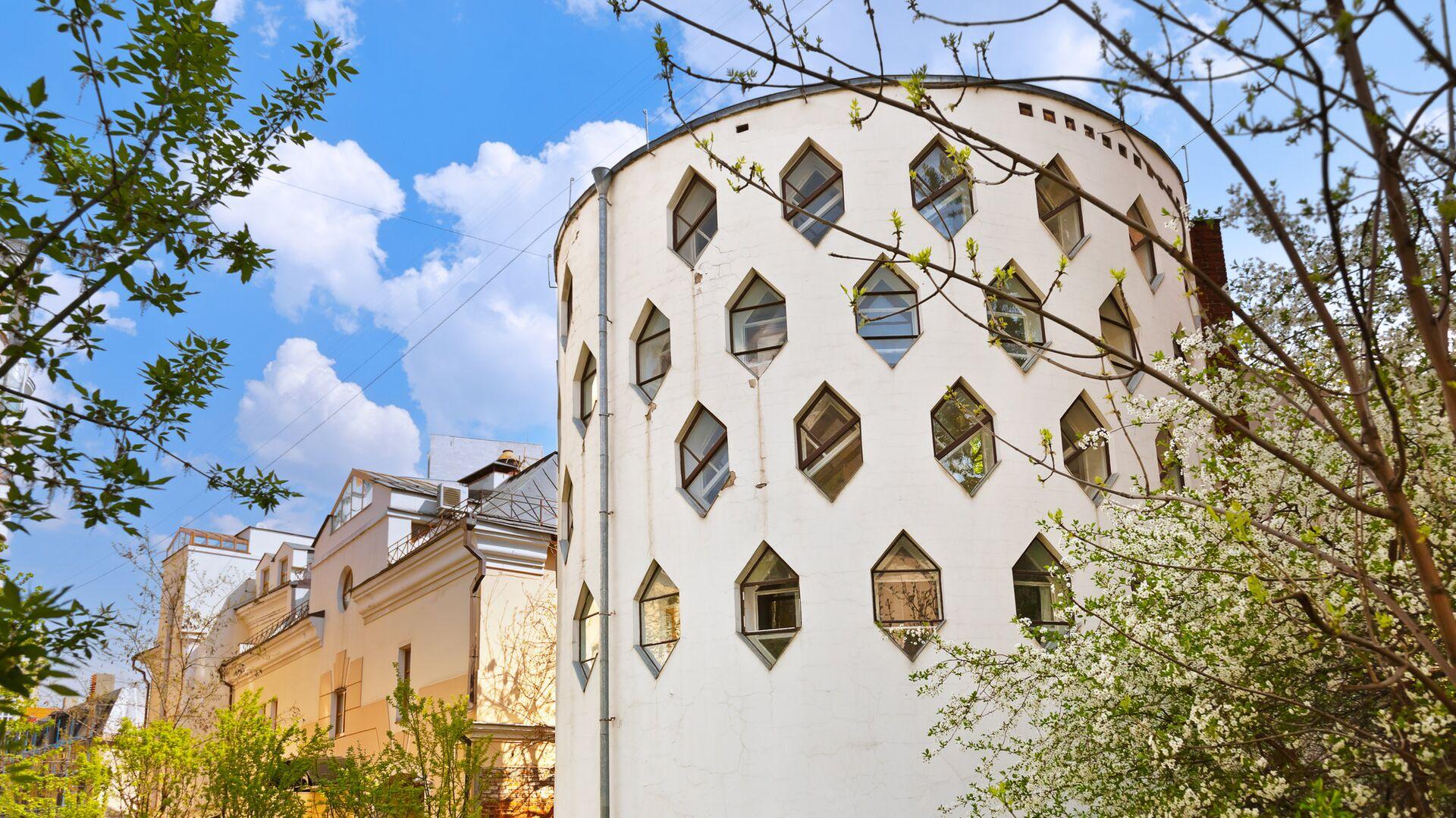 Дом Мельникова в Кривоарбатском переулке в Москве - РИА Новости, 1920, 21.06.2021