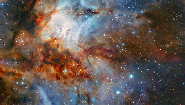 Звездное скопление RCW 38 снятое телескопом VLT