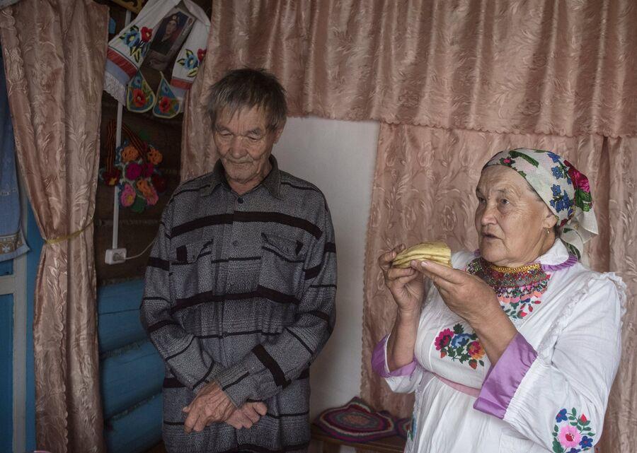 Жители села Шоруньжа перед праздником Сярем