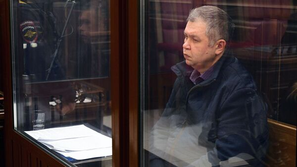Начальник ГУ МЧС России по Кемеровской области Александр Мамонтов в Кемеровском областном суде. 26 мая 2018