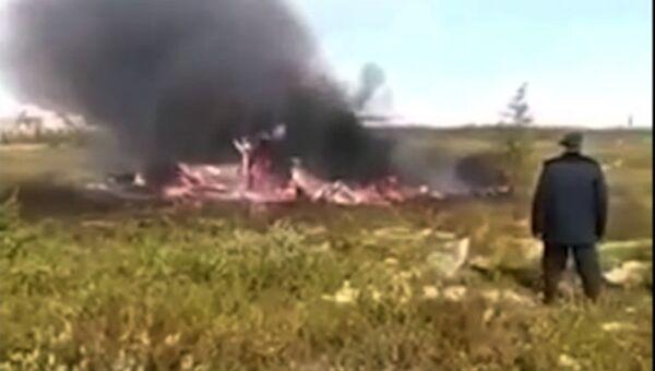 На месте крушения вертолета ми-8 в Красноярском крае. 4 августа 2018