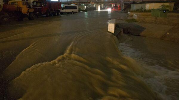 Затопленные в результате проливных дождей улицы Сочи. Архивное фото