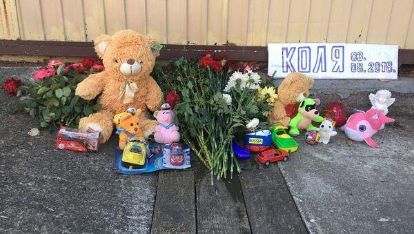 Место гибели ребенка в поселке Лазаревское