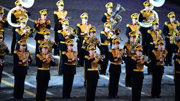 Музыканты Центрального военного оркестра Министерства обороны России. Архивное фото
