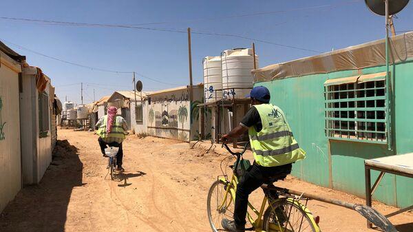 В лагере Сирийских Беженцев Заатари на севере Иордании в провинции Аль-Мафрак