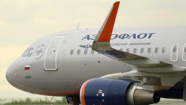 Самолет Airbus-A320 авиакомпании Аэрофлот. Архивное фото