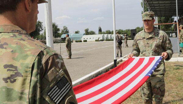 Военнослужащие армии США во время совместных учений с армией Казахстана Степной орел под Алма-Атой. Архивное фото