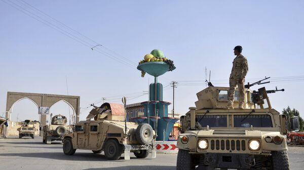 Афганские военные в городе Газни