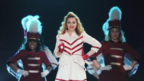 Американская певица Мадонна выступает с концертом в СК Олимпийский в Москве