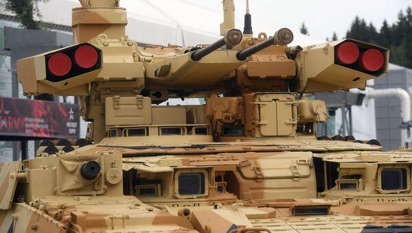 Боевая машина поддержки танков Терминатор на форуме Армия-2018 в Кубинке