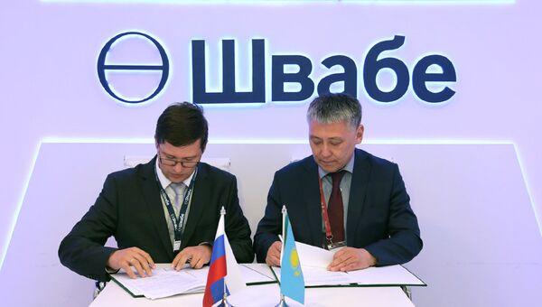 Подписание соглашения о военно-техническом сотрудничестве холдинга Швабе с казахстанской компанией Семей инжиниринг на форуме Армия-2018