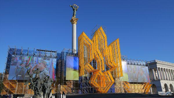 Подготовка к военному параду в честь Дня независимости Украины в Киеве