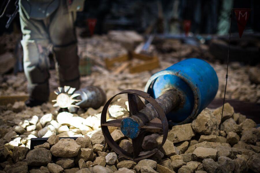 Самодельная мина, переделанная из газового баллона