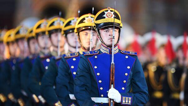 Открытие военно-музыкального фестиваля Спасская башня