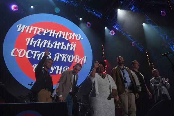 Участники International Jazz Ensemble Якова Окуня во время выступления на 16-м международном музыкальном фестивале Koktebel Jazz Party