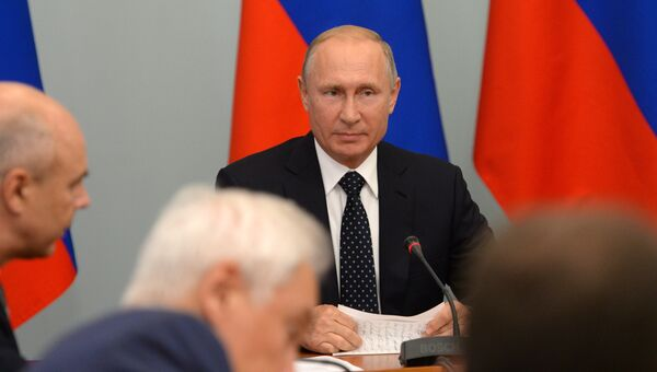 Президент РФ Владимир Путин проводит совещание по социально-экономическим вопросам. 28 августа 2018