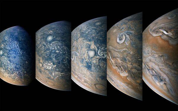 Северное полушарие Юпитера, снятое зондом Juno