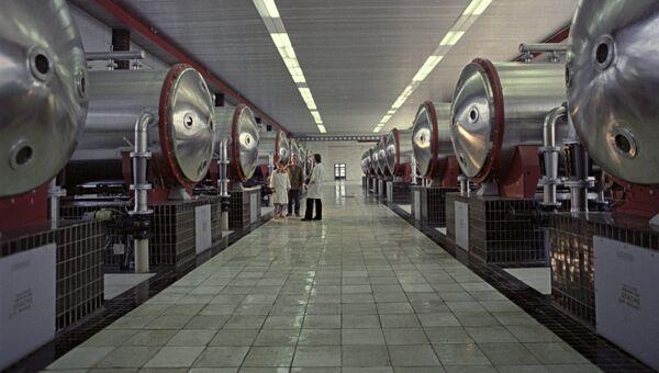 Один из участков станции московского водопровода, где вода насыщается озоном