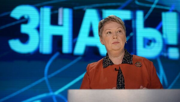 Министр образования Ольга Васильева принимает участие в программе Право знать на телеканале ТВ Центр