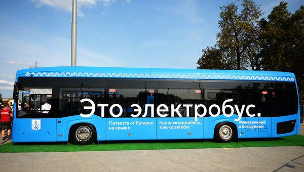 Пассажирский электробус в Москве. Архивное фото