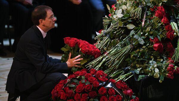 Министр культуры РФ Владимир Мединский на церемонии прощания с Иосифом Кобзоном