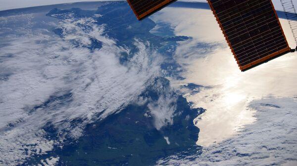 Новая Зеландия под крылом Международной космической станции
