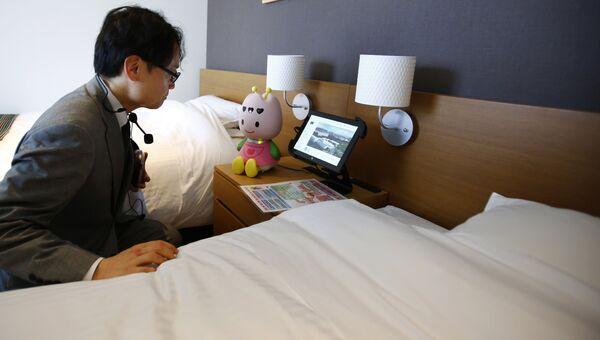 Робот-консьерж Tuly в Henn na Hotel в Японии