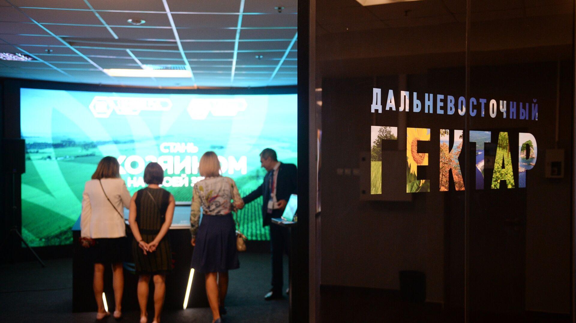 Презентация оригинальных идей по освоению дальневосточных гектаров, которая проходит в рамках Восточного экономического форума во Владивостоке - РИА Новости, 1920, 24.09.2020
