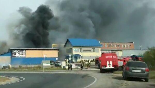 Пожар на НПО Карбохим в Дзержинске Нижегородской области. 12 сентября 2018