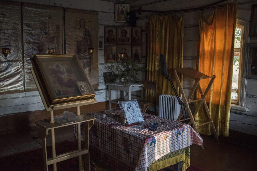 В доме Татьяны — последней жительницы села Кукуй. Макарьевский район, Костромская область