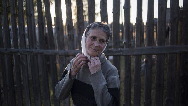 Татьяна — последний житель села Кукуй. Макарьевский район, Костромская область