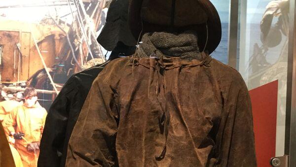 Костюм рыбака в Морском музее Рейкьявика.