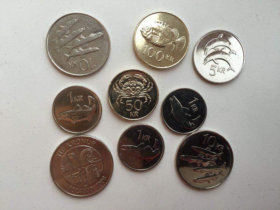 Значимость рыбной отрасли для Исландии хорошо заметна по ее монеткам - исландским кронам