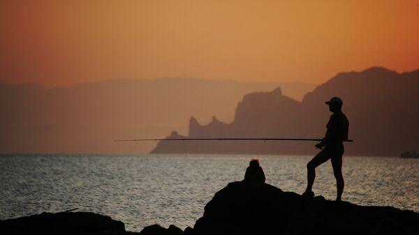 Вечерняя рыбалка на мысе Меганом