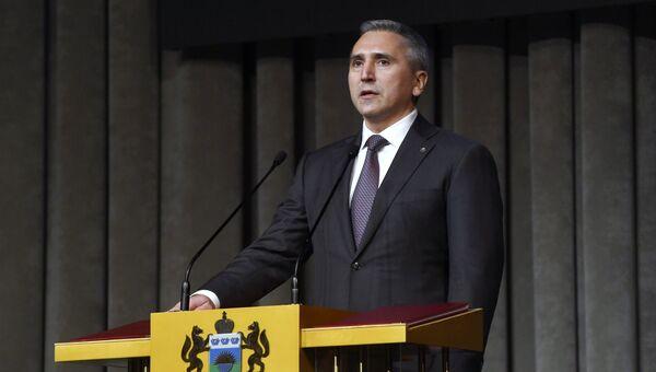 Губернатор Тюменской области Александр Моор на торжественной церемонии инаугурации. 14 сентября 2018