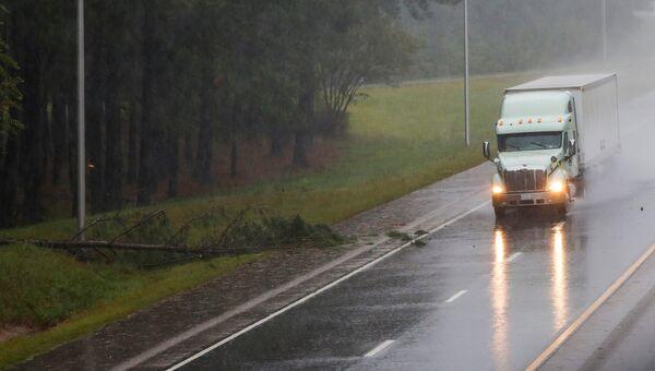 Во время урагана Флоренс в городе Уилсон штата Северная Каролина. 14 сентября 2018