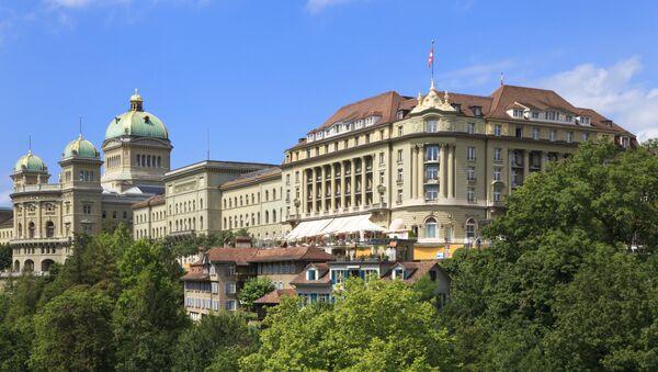 Западное крыло Федерального дворца Швейцарии. Архивное фото