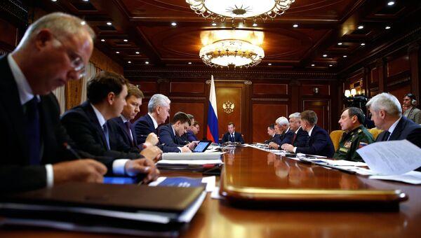 Дмитрий Медведев проводит заседание президиума Совета при президенте РФ по стратегическому развитию и национальным проектам. 17 сентября 2018
