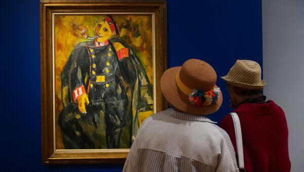 Выставка Михаил Ларионов в Третьяковской галерее. Архивное фото.