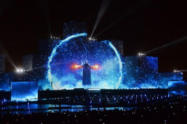 Церемония открытия международного фестиваля Круг Света на Гребном канале в Москве