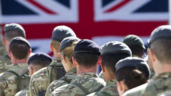 Британские военнослужащие на авиабазе в Кандагаре